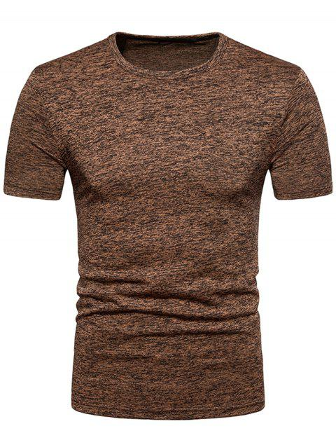 Basic Short Sleeve T-shirt - BROWN BEAR S