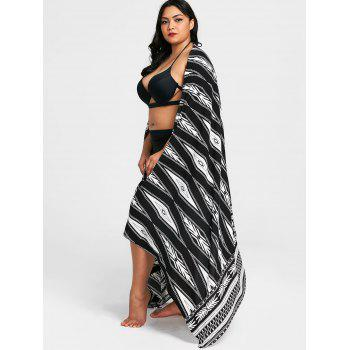 Convertible Tribal Print Cover-up - COLORMIX XL