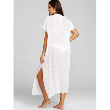 Crochet Low Cut Cover-up - WHITE ONE SIZE