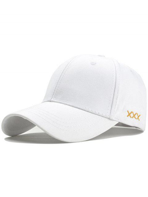 XXX Embroidery Adjustable Graphic Hat - WHITE