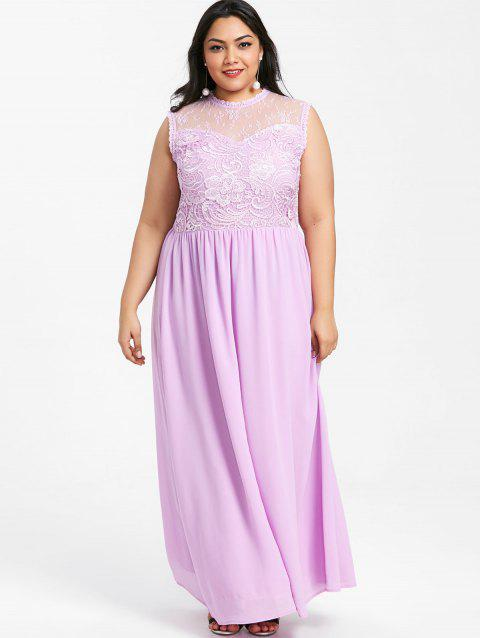 Plus Size Sleeveless Chiffon Maxi Dress