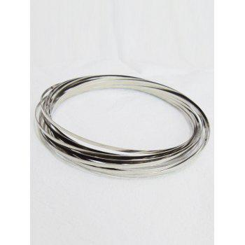 Stress Reliever Circle Stainless Steel Magic Bracelet - SILVER