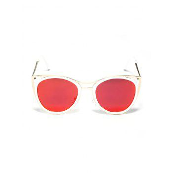 Vintage Metal Frame Sun Shades Sunglasses - RED