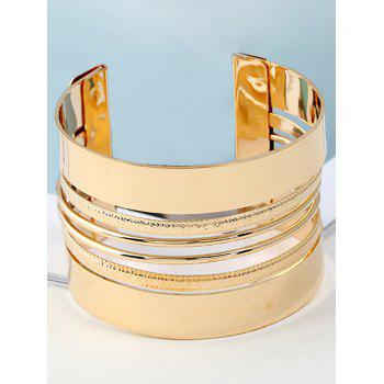 Cool Metal Cuff Bracelet - GOLDEN