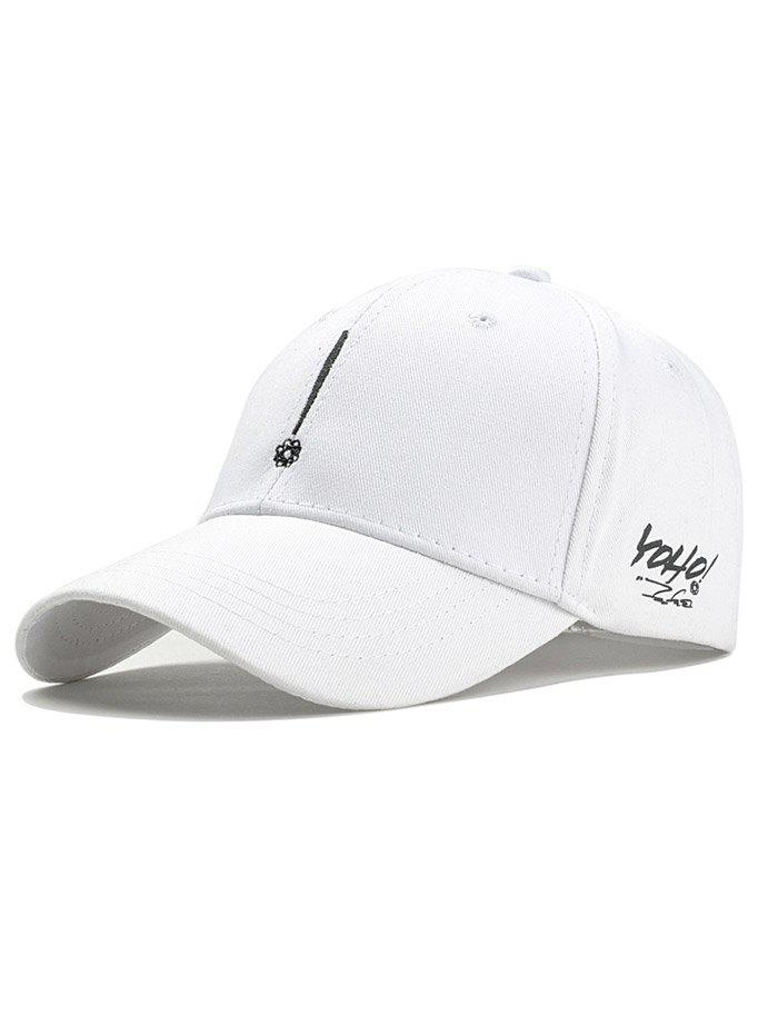 Exclamation Mark Embroidery Sunscreen Hat - WHITE
