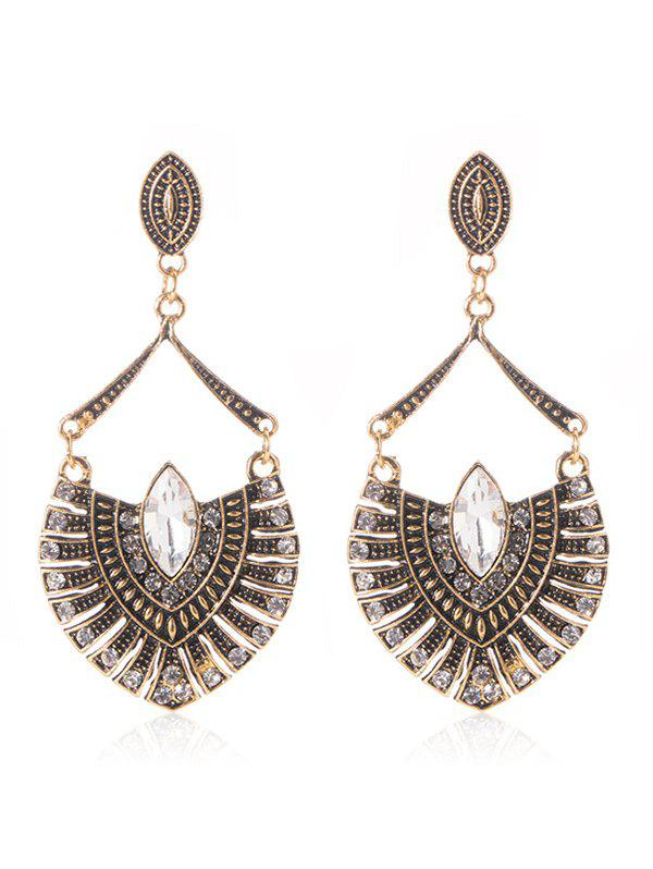 Bohemian Retro Metal Geometric Shaped Drop Earrings faux opal geometric earrings