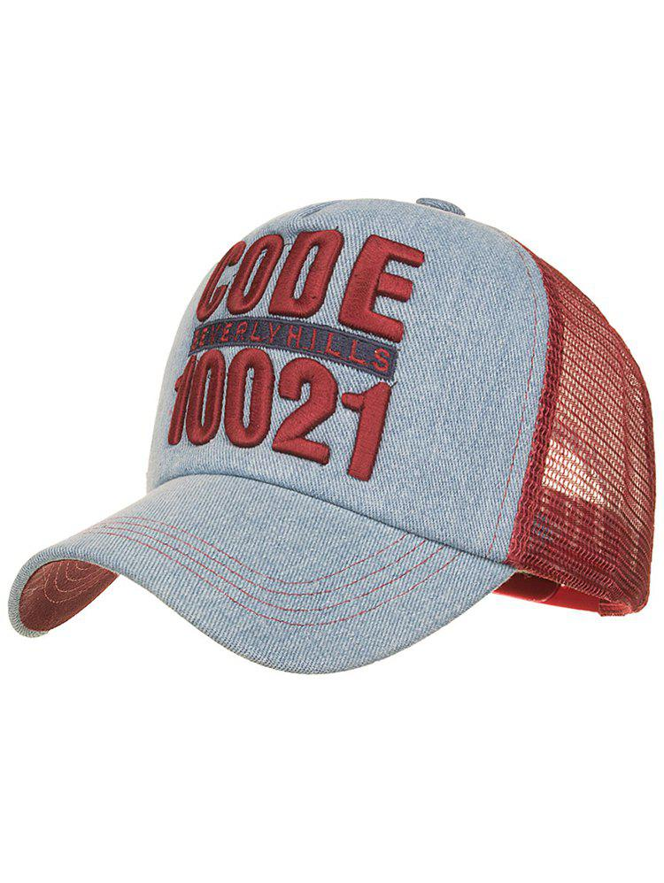 CODE 10021 Embroidery Mesh Sun Hat - CHESTNUT RED