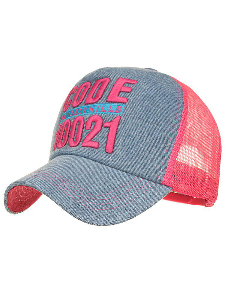 CODE 10021 Embroidery Mesh Sun Hat - FLAMINGO PINK