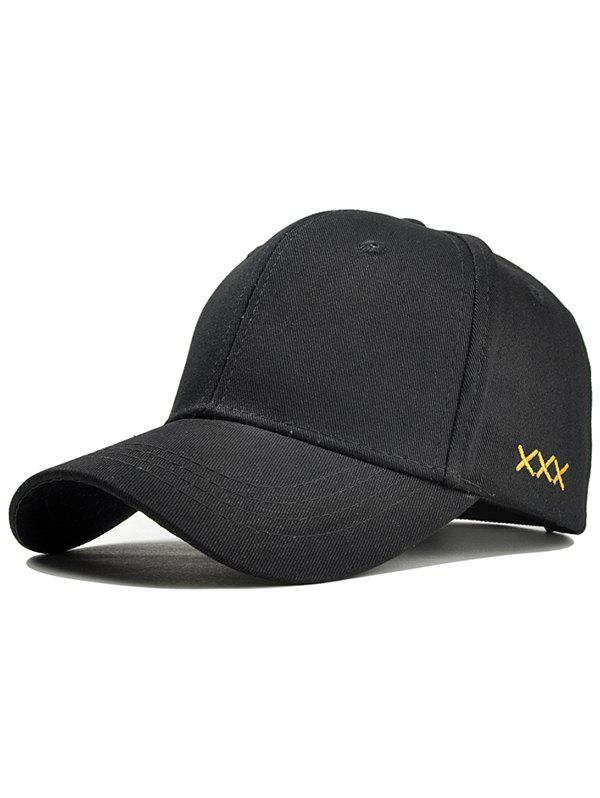 XXX Embroidery Adjustable Graphic Hat - BLACK