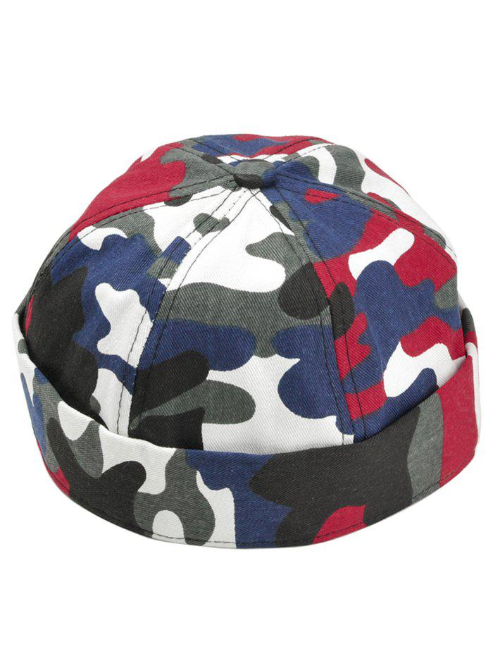 Unique Camo Pattern Adjustable Landlord Hat - RED