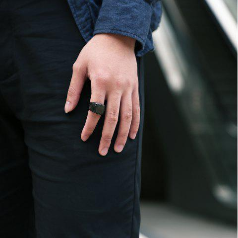 Geometric Round Finger Ring Jewelry for Man - BLACK 7