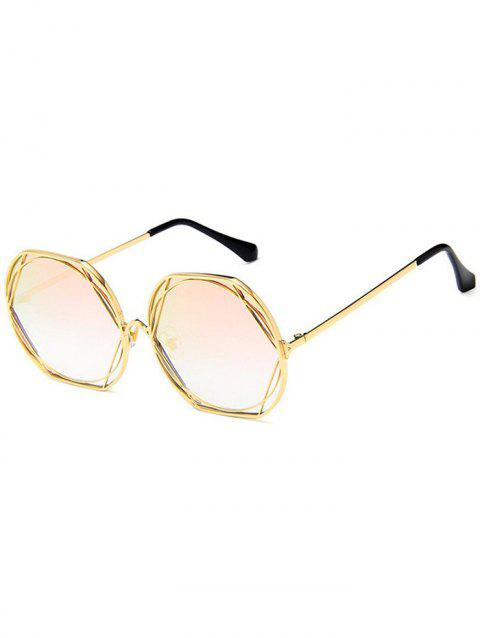 Metal Frame Street Snap Sunglasses - PINK BUBBLEGUM