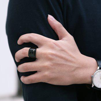 Geometric Round Finger Ring Jewelry for Man - BLACK 9