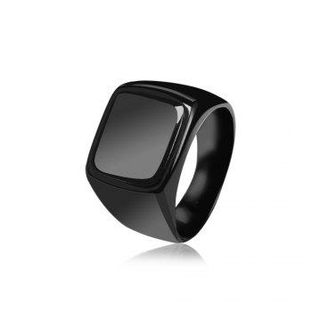 Geometric Round Finger Ring Jewelry for Man - BLACK 10
