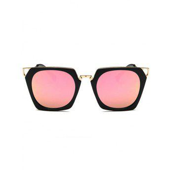 Anti Fatigue Hollow Out Metal Frame Sunglasses - LIGHT PINK