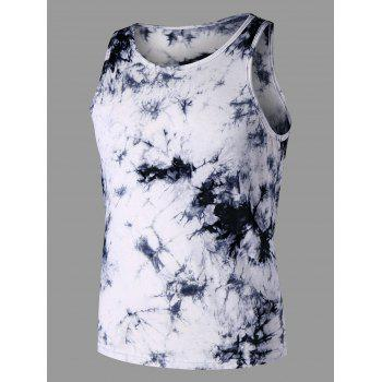 Round Neck Tie Dye Tank Top - COLORMIX XL