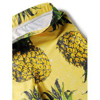 Pineapple Pattern Leggings - YELLOW S