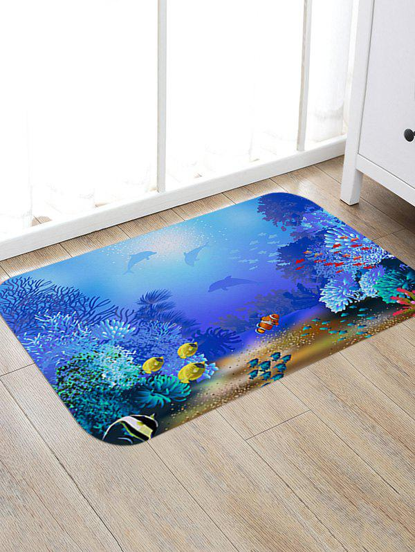 Ocean Underwater Pattern Anti-skid Floor Area Rug sand shell starfish pattern floor area rug