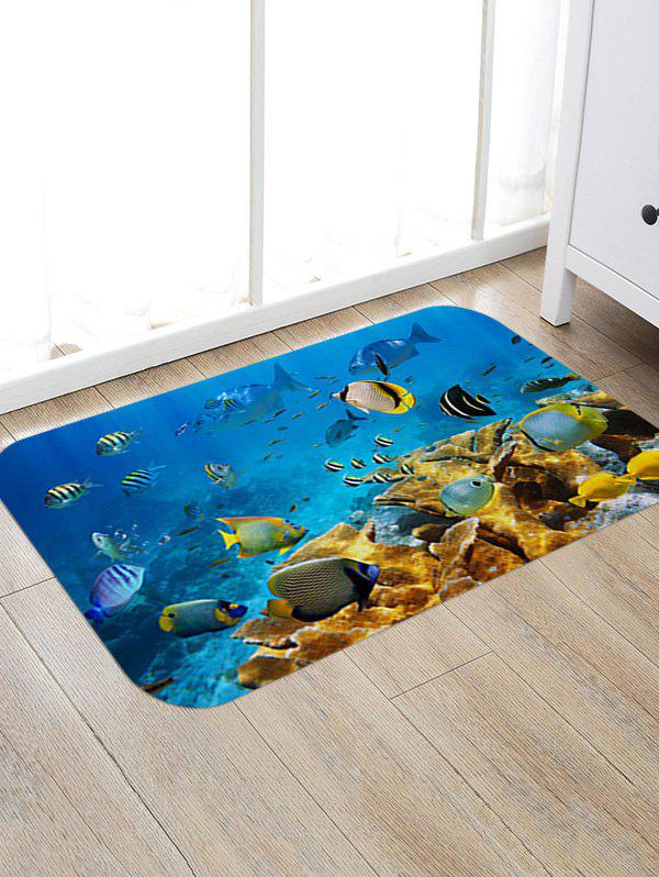 Underwater Fishes Pattern Anti-skid Floor Area Rug fishes in the sea pattern floor area rug