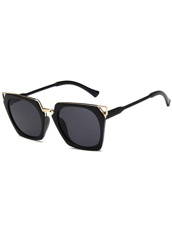 Anti Fatigue Hollow Out Metal Frame Sunglasses - BLACK