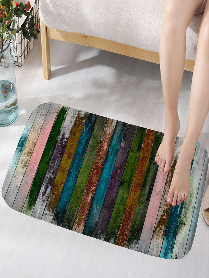 Wood Plank Pattern Flannel Bath Mat цена 2017