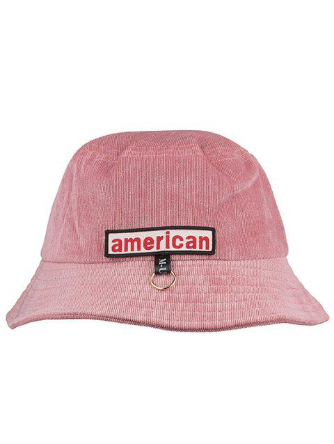 Unique Metal Ring AMERICA Pattern Sun Hat - LIGHT PINK