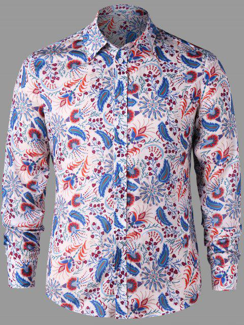 Full Sleeve Paisley Shirt - FLORAL XL
