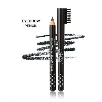 Set of Long Lasting Waterproof Mascara Liquid Eyeliner and Eyebrow Pencil - BLACK