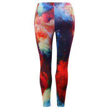 Skinny High Waist Leggings - multicolor XL
