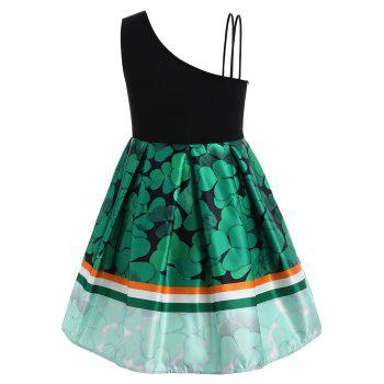Plus Size Sleeveless Shamrock Dress - SHAMROCK GREEN L