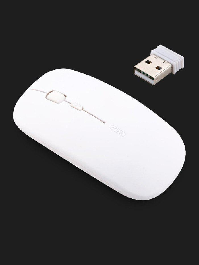 Inphic Ultra-thin Portable Mobile Wireless Mouse Mice For Computer - WHITE