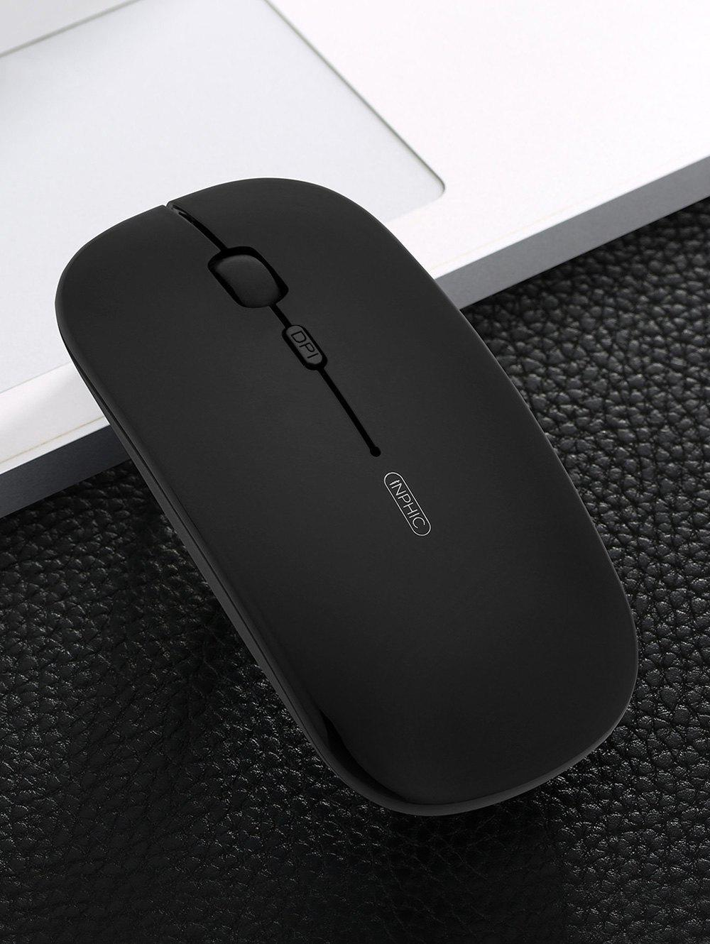 Inphic Ultra-thin Portable Mobile Wireless Mouse Mice For Computer - BLACK