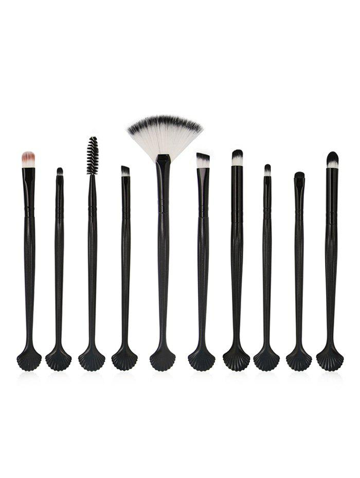 10Pcs Shell Shaped Super Soft Eye Makeup Brush Set shell shaped hair ring set