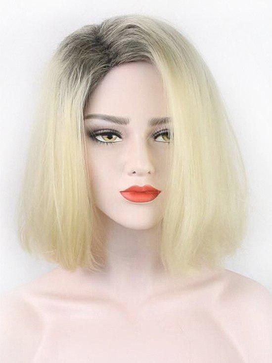 Short Side Parting Straight Bob Party Colormix Synthetic Wig - multicolor