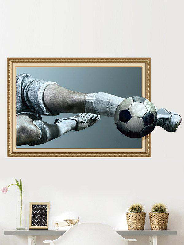 3D Soccer Player and Goal Wall Art Sticker Decal family wall quote removable wall stickers home decal art mural