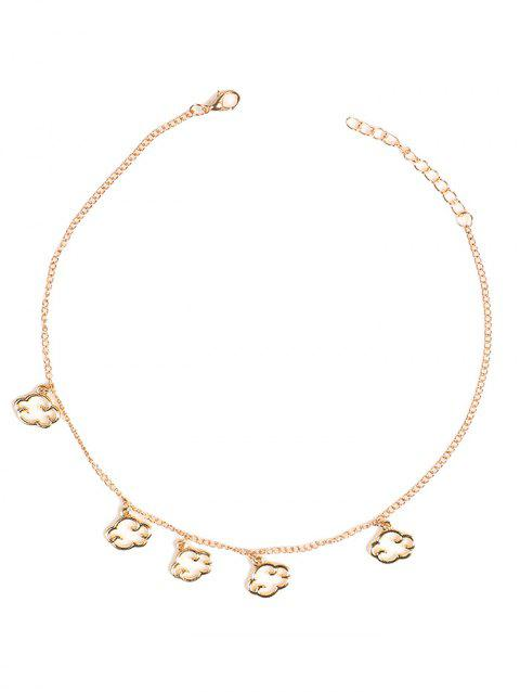 Clouds Pendant Chain Charm Necklace - GOLD