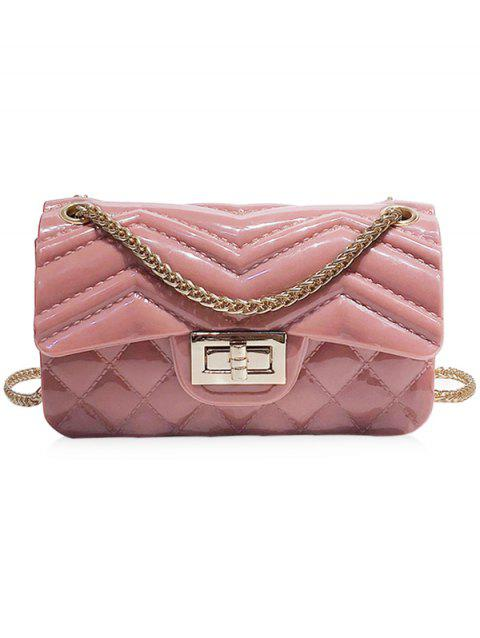 Jelly Clutch Crossbody Chain Bag - PINK