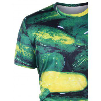 Summer Cucumber T-shirt - GREEN 2XL