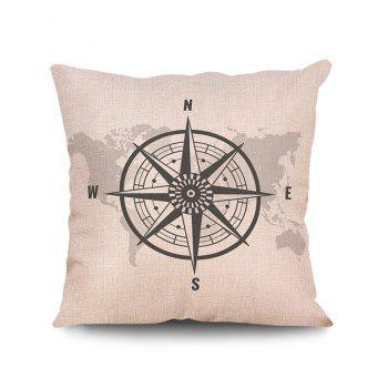 World Map Print Linen Sofa Pillowcase - multicolor W18 INCH * L18 INCH