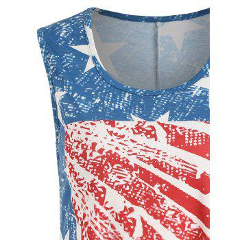 American Flag Print Handkerchief Tank Top - multicolor 2XL