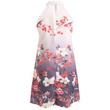 Floral Print Swing Dress - PINK S