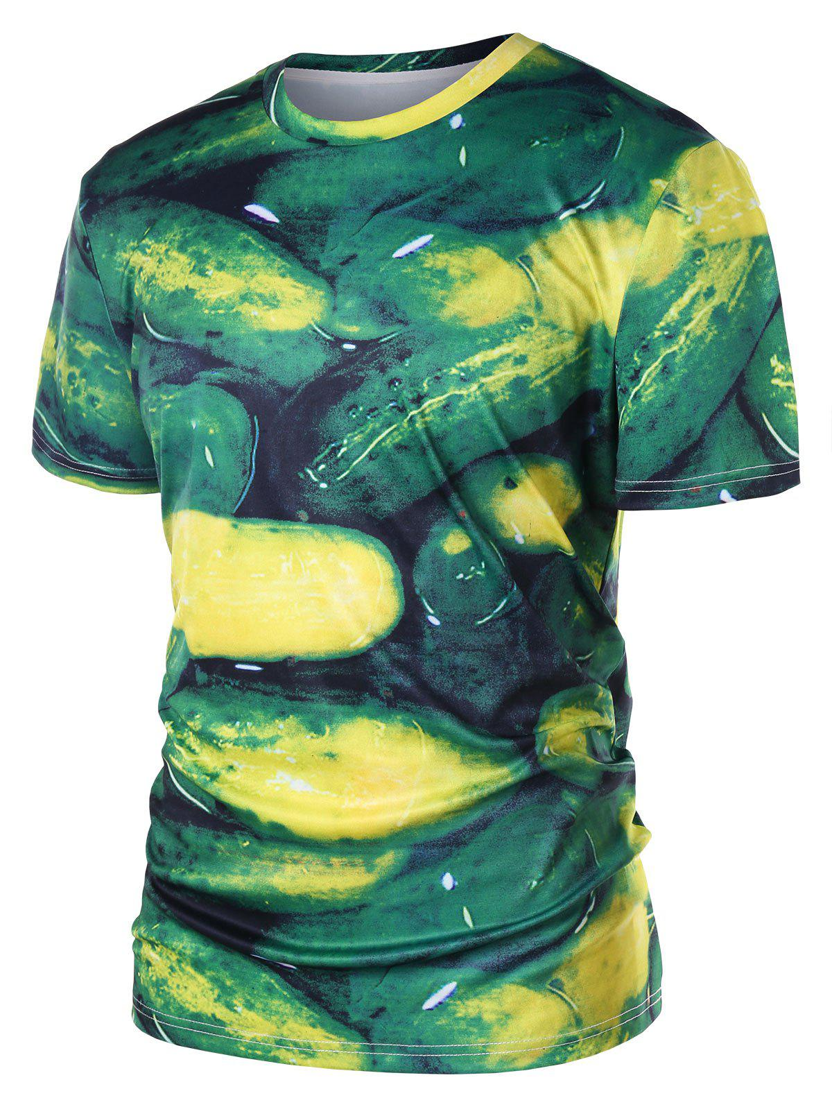 Summer Cucumber T-shirt - GREEN XL