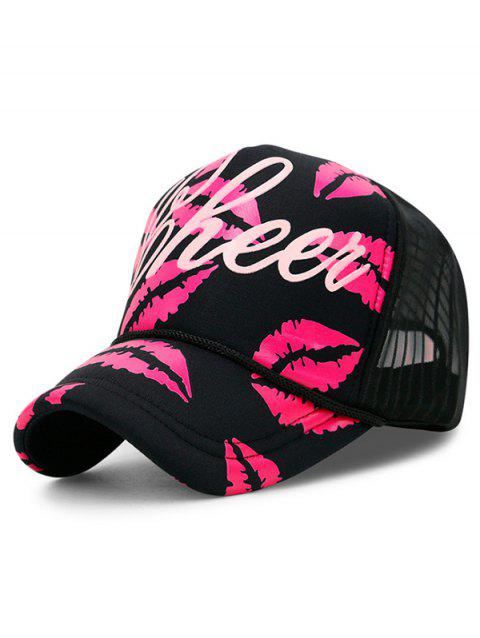 Sexy Lips Hip Hop Dancing Hat - ROSE RED