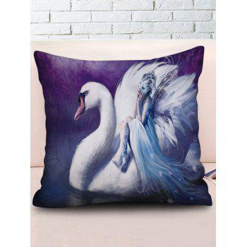 Fairy Print Home Decor Pillowcase - multicolor W18 INCH * L18 INCH
