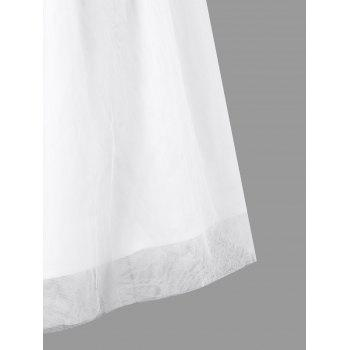 Lace Panel Ankle-length Formal Dress - WHITE XL