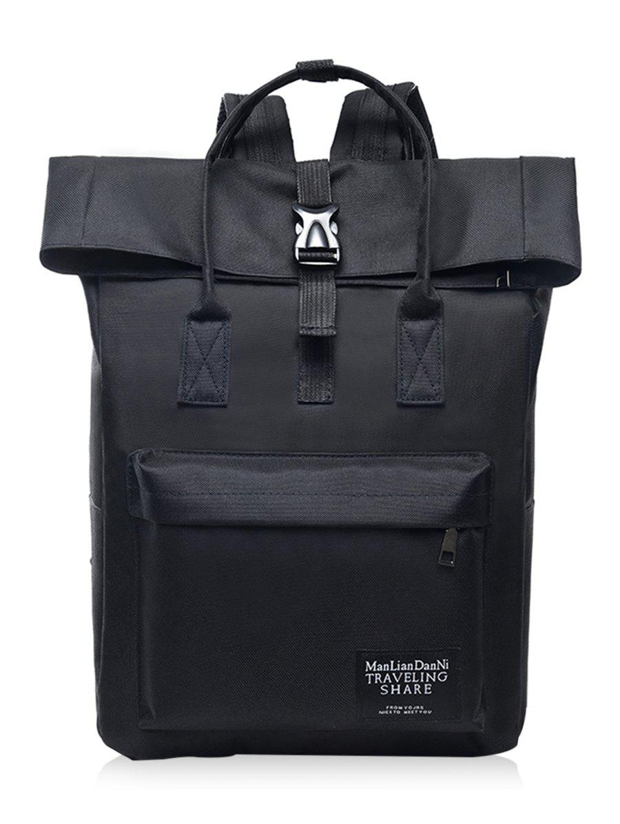 Large Capacity Chic Shopping Backpack - BLACK
