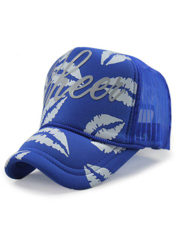 Sexy Lips Hip Hop Dancing Hat - ROYAL BLUE