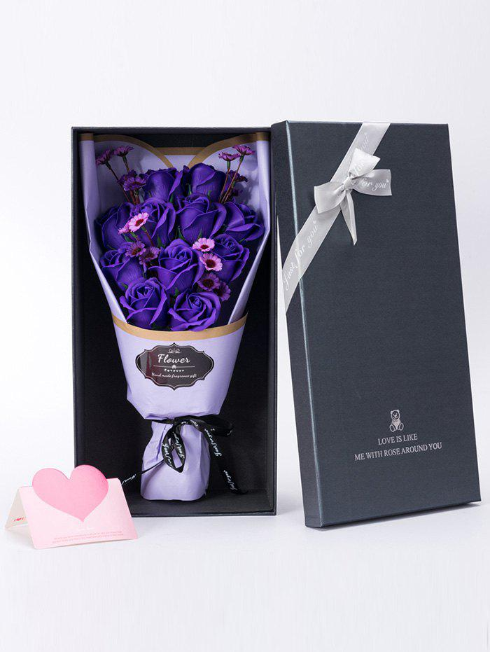 Mother's Day Gift Artificial Rose Soap Flowers Bouquet festival gift simulation rose soap flowers with gift box