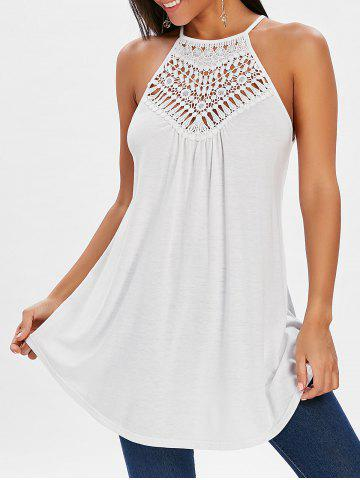 Crochet Yoke Tunic Tank Top