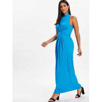 Knot Back Cut Out Maxi Dress - BUTTERFLY BLUE M